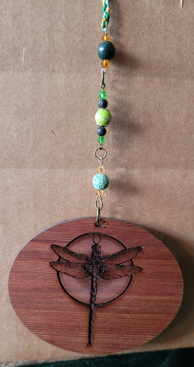 Dragonfly - 3' Oval - Beaded & Braided