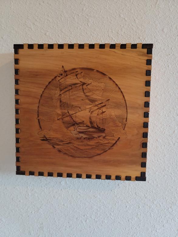 4.5 X 4.5 X 4.5 Ship - Wall/Shelf Decor