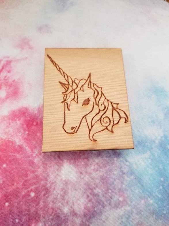 Unicorn - Square Magnet