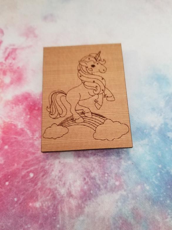 Unicorn & Rainbow - Square Magnet