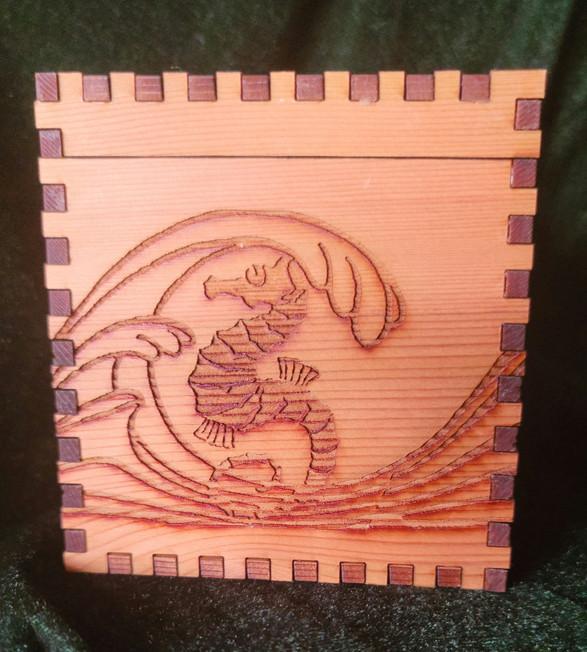4 X 4 X 4 Seahorse Wave Cube