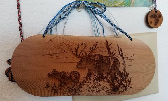 Moose  3.5 X 7 - Braided Hanging Cord