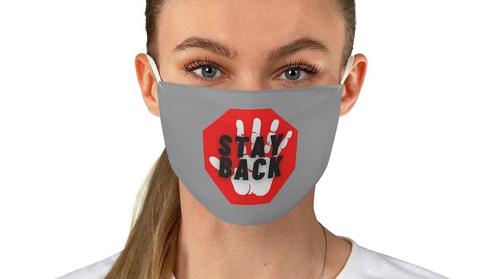 """""""Stay Back"""" Fabric Face Mask"""