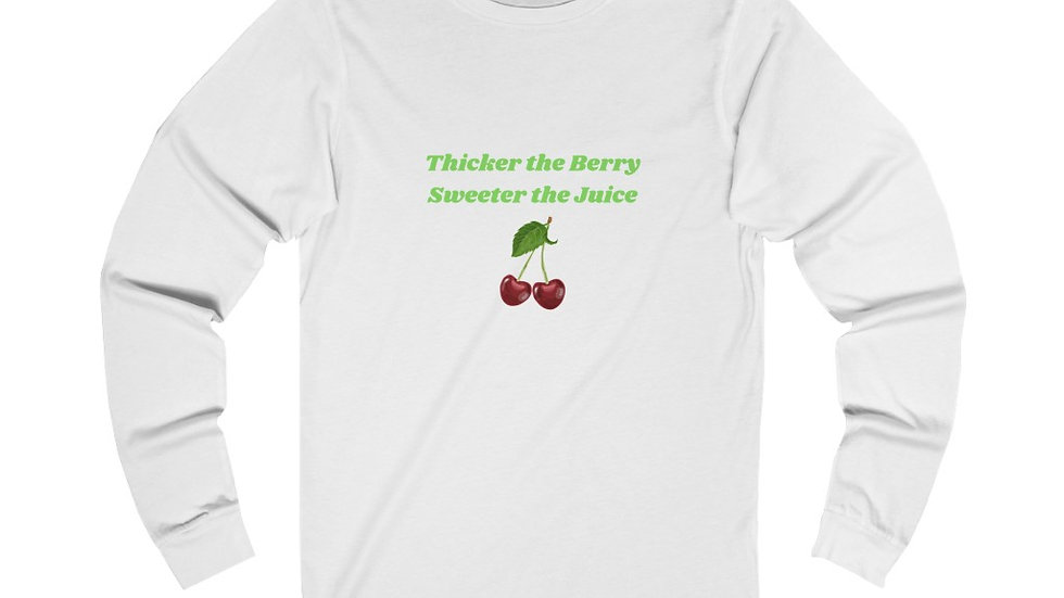 """""""Thick Berry"""" Jersey Long Sleeve Tee"""