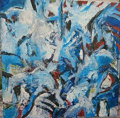 Gerald Grossbauer, Mr. Blue & friends malt in seiner Freizeit großformatige Ölbilder