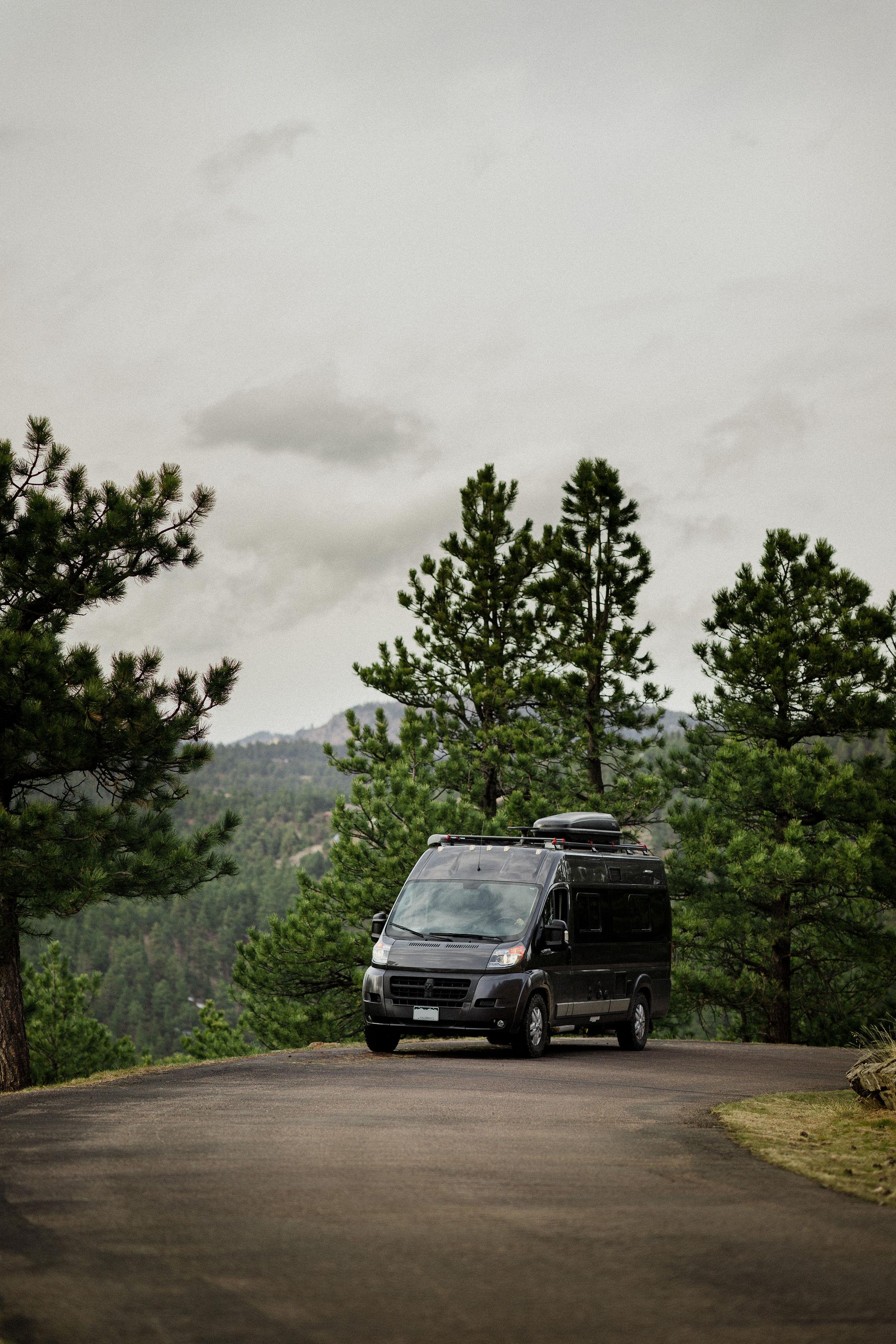 Campervan adventure map