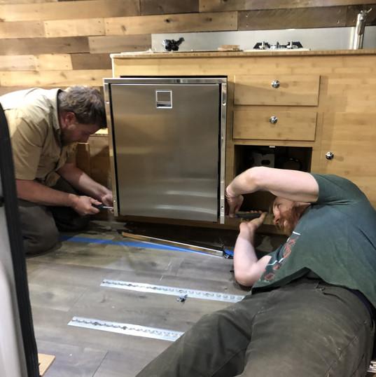 Isotherm fridge install van conversion.j