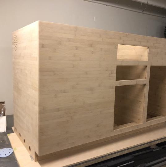 Conversion van kitchen galley build out.