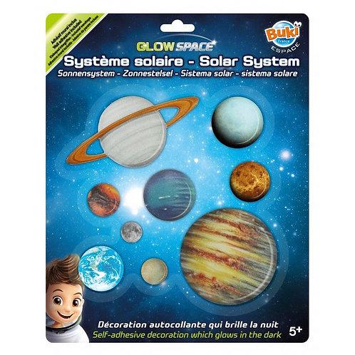 מדבקות מערכת השמש זוהרות בחושך מבית בוקי, צרפת.