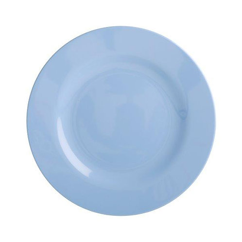 צלחת מלמין מנה ראשונה כחול בהיר RICE