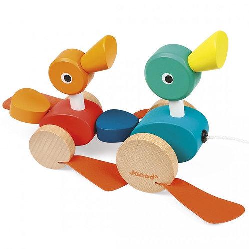 צעצוע משיכה ברווזונים janod