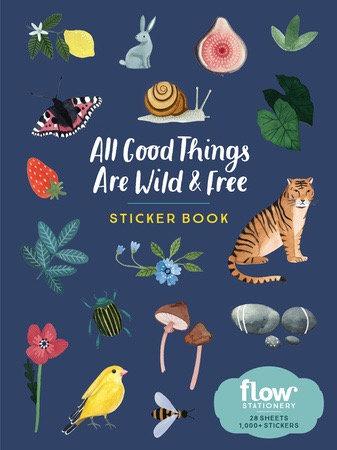 ספר מדבקות – ALL GOOD THINGS ARE WILD &FREE