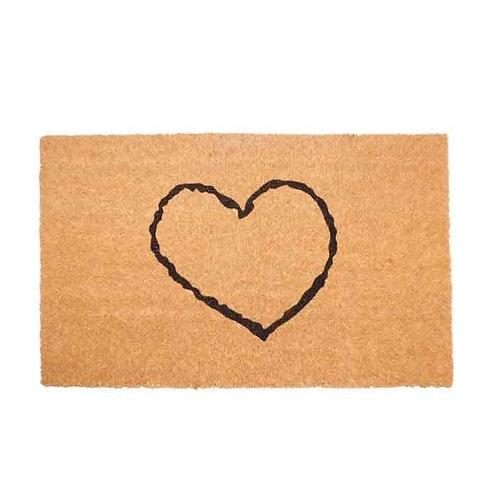 שטיח סף כניסה לבית או לבניין לב חלול