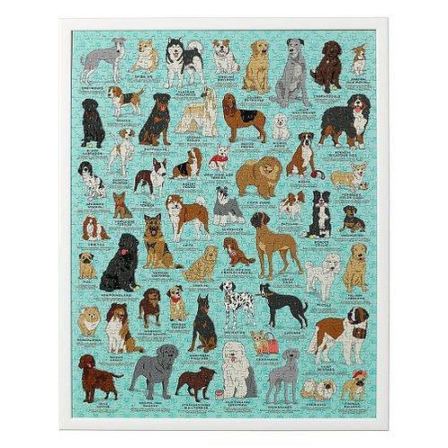 פאזל 1000 חלקים כלבים
