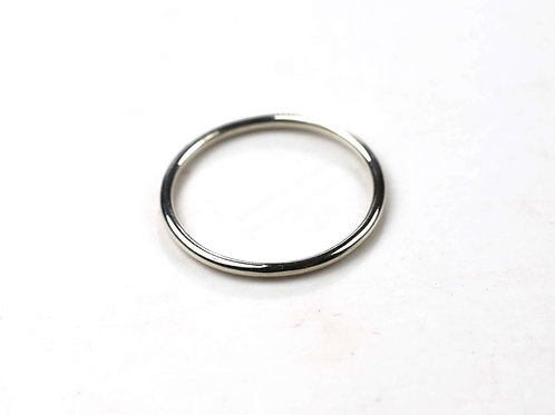 9ct white gold skinny 1.2mm ring