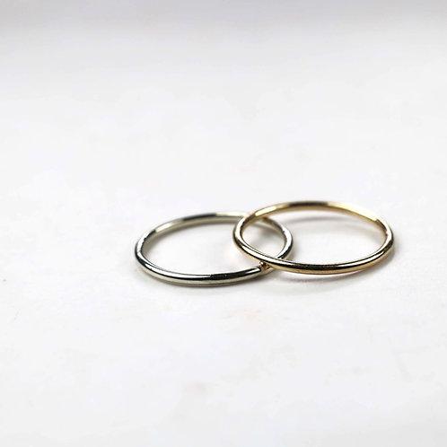 Skinny 1.2mm gold rings
