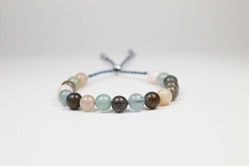 Multigem bead bracelet