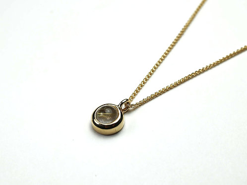 Mini Golden Rutilated Quartz Pendant