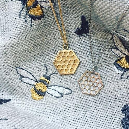Gold Hive Pendant