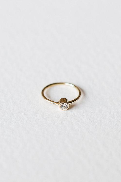 Skinny 18ct diamond single earhoop