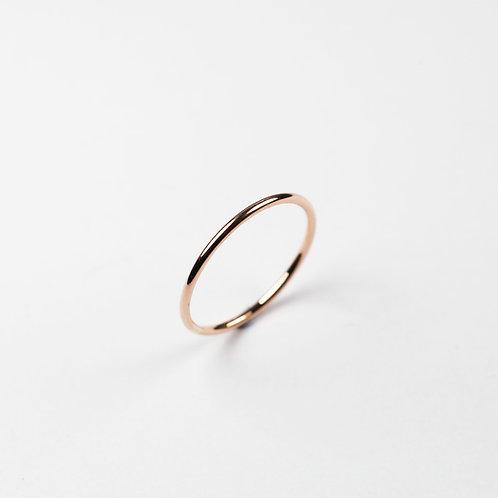 9ct Rose Gold 1.2mm ring