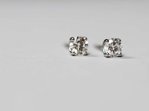 A pair of 0.50ct Diamond earrings in Platinum