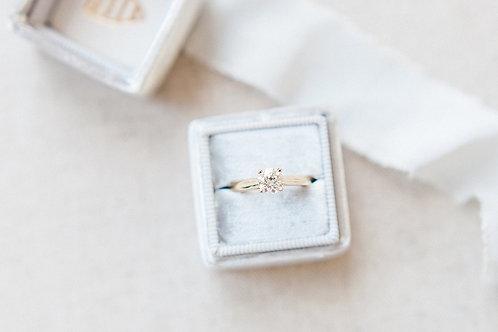 A 0.50ct single stone diamond ring