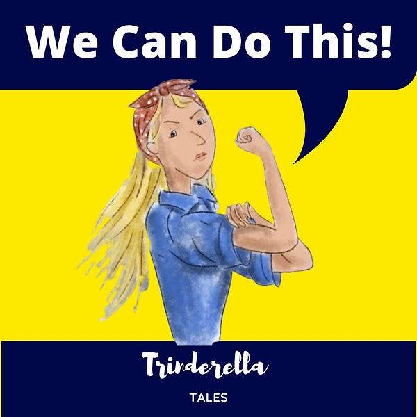 Nottinghamshire Children's author Trinderella is depicted in 1940's war style morale poster designed to support readers through the corona virus pandemic