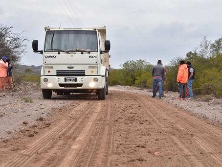 Mejoramiento de caminos en las Sierras del Dpto Gral Ocampo.