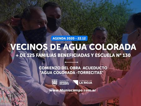 "Comienzo de obra  acueducto ""AGUA COLORADA -TORRECITAS"""