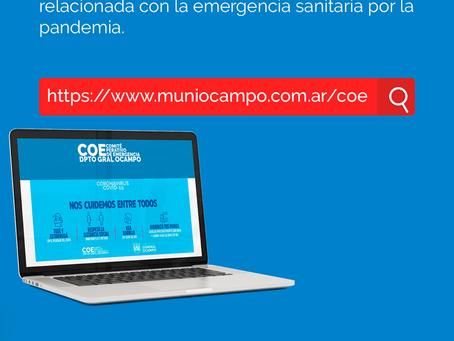 EL COE de Gral.Ocampo ya cuenta con Pagina WEB