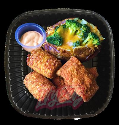 Fried Salmon Plate