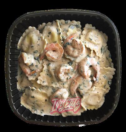 Shrimp Ravioli Plate