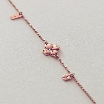 MON TREFLE - Bracelet, Pink Gold Vermeil