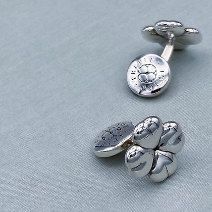 CLOVER'S PICKING - Cufflink, Silver
