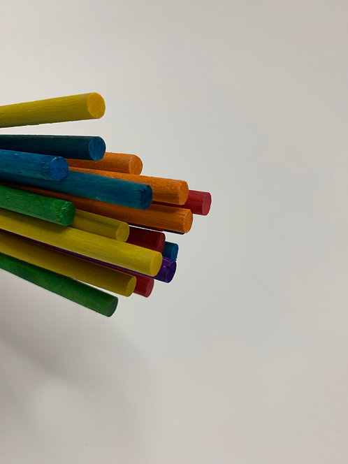 Colourful Wooden Stick ( pack of 20)