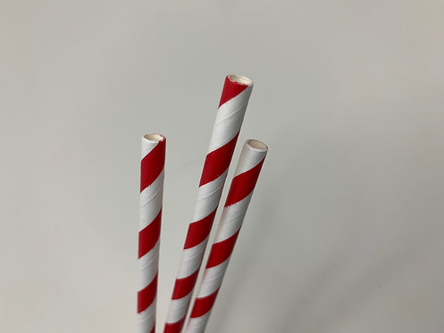 Decorative Red paper straw (pack of 25)