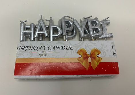 Happy Birthday Candles (SILVER)
