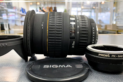 Sigma 24-70mm 1:2.8 DG EX Aspherical Pentax Zoom Lens with micro 4/3 adapter