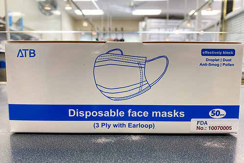 Disposable Surgical Face Masks Protective Mask (3-Ply) - 50 PCS