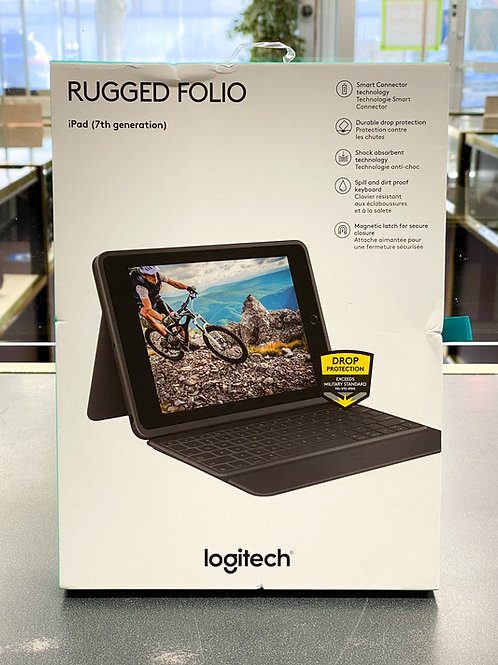 Logitech Rugged Folio Keyboard for iPad 7th, 8th & 9th Gen