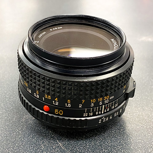 Minolta MD 50mm f/1:2 Lens