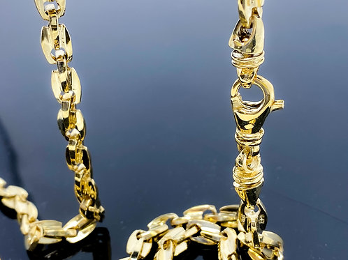 Fancy Double Oval Style Link Necklace