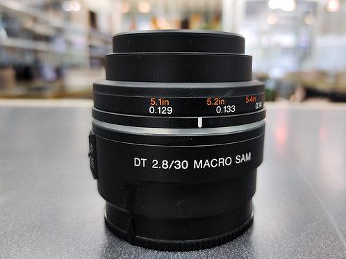 Sony DT 30mm F2.8 Macro SAM Lens (SAL30M28)