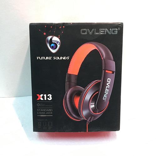 OVLENG X13 3.5mm Plug Stereo Headphone-Black