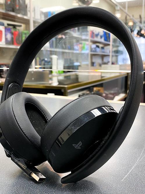 Sony Playstation cuhya-0080 Gold Wireless Headset 7.1 Surround Sound