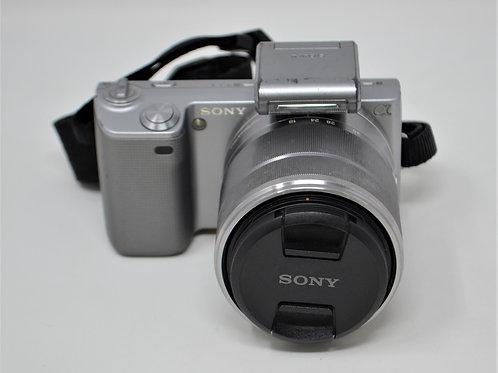 Sony Alpha Nex-5 Mirrorless Camera with18-55mm Lens & Flash