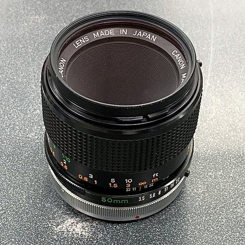 Canon FD 50mm f/3.5 Macro Lens