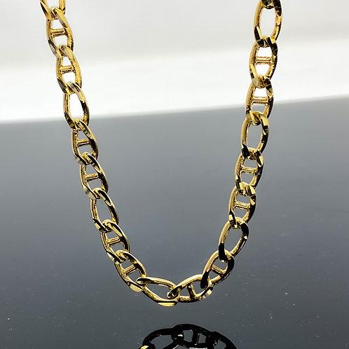 Diamond Cut Mariner & Elongated Oval Link Necklace
