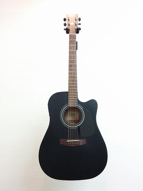 Cort MR100F Acoustic Electric Guitar Matte Black (E.X.+)
